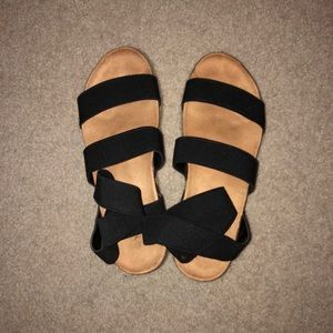Black Platform Sandals Size 9